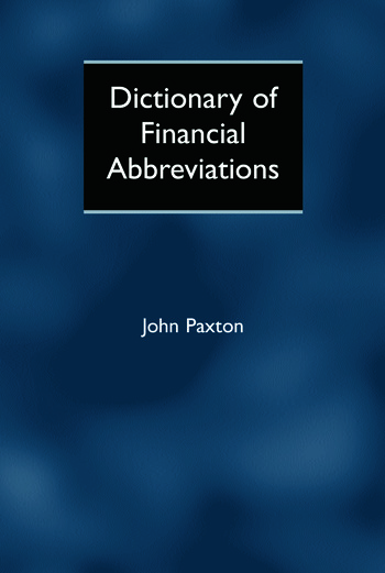 Dictionary of Financial Abbreviations book cover