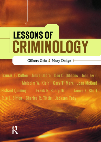 Lessons of Criminology book cover