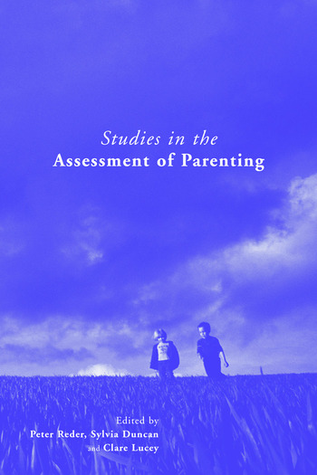 Studies in the Assessment of Parenting book cover
