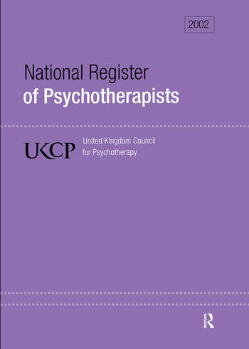 National Register of Psychotherapists 2002 book cover