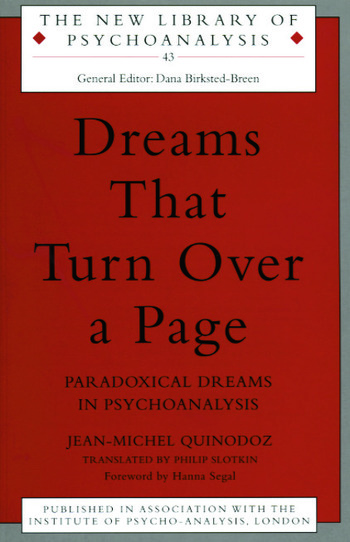 Dreams That Turn Over a Page Paradoxical Dreams in Psychoanalysis book cover