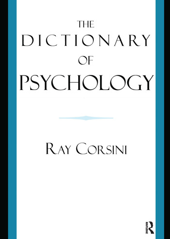 The Dictionary of Psychology book cover