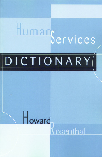 Human Services Dictionary book cover