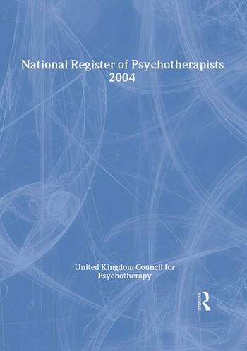 National Register of Psychotherapists 2004 book cover