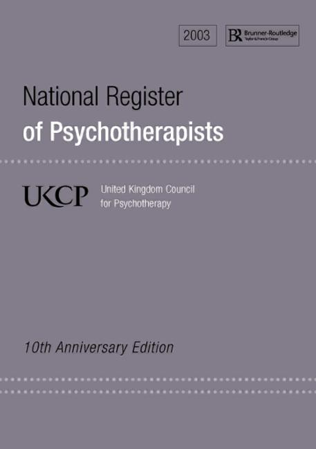 National Register of Psychotherapists 2003 United Kingdom Council for Psychotherapy book cover