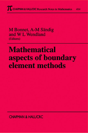 Mathematical Aspects of Boundary Element Methods book cover