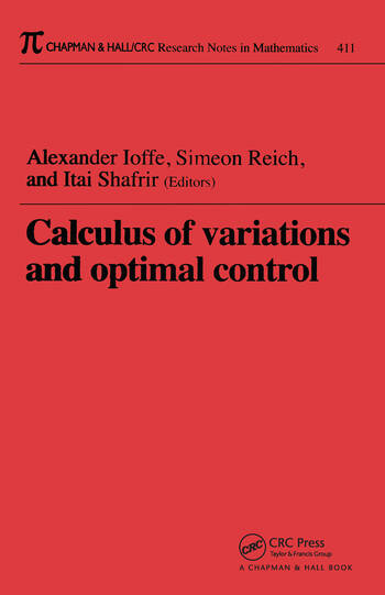 Calculus of Variations and Optimal Control Technion 1998 book cover