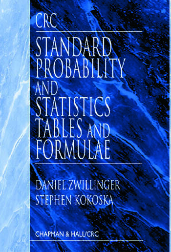 CRC Standard Probability and Statistics Tables and Formulae book cover