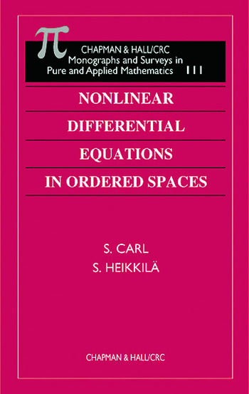 Nonlinear Differential Equations in Ordered Spaces book cover