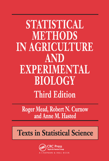 Statistical Methods in Agriculture and Experimental Biology book cover