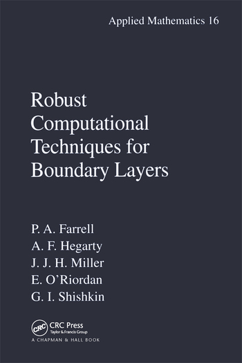 Robust Computational Techniques for Boundary Layers book cover
