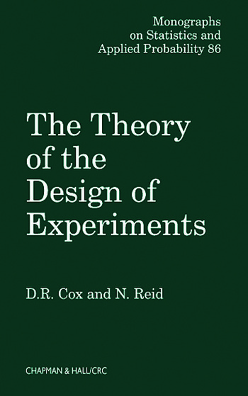 The Theory of the Design of Experiments book cover