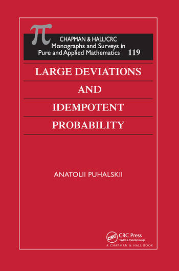 Large Deviations and Idempotent Probability book cover
