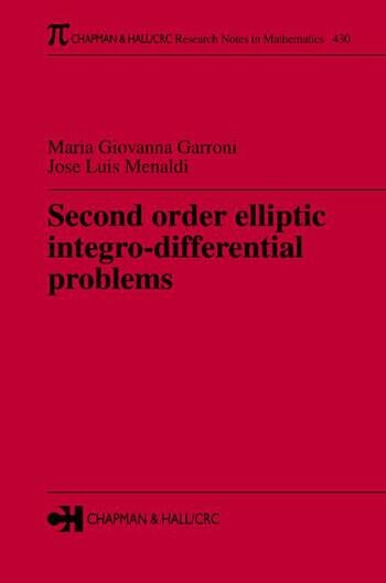 Second Order Elliptic Integro-Differential Problems book cover