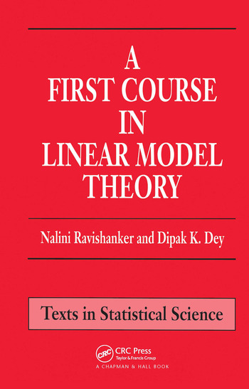 A First Course in Linear Model Theory book cover