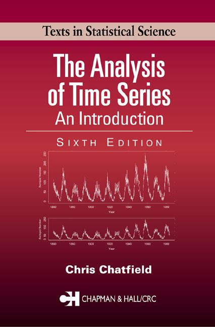 The Analysis of Time Series An Introduction, Sixth Edition book cover