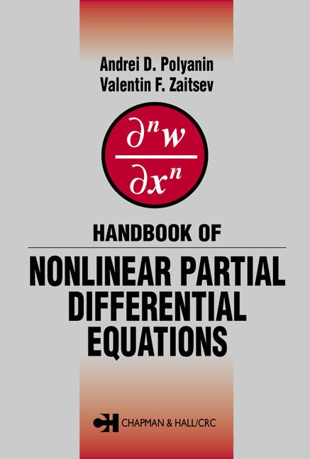 Handbook of Nonlinear Partial Differential Equations book cover