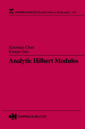 Analytic Hilbert Modules book cover