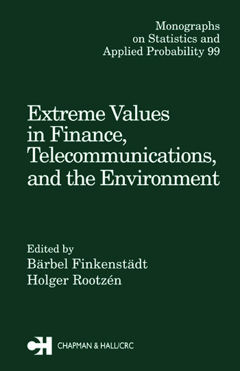 Extreme Values in Finance, Telecommunications, and the Environment book cover
