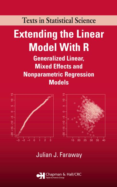 Extending the Linear Model with R Generalized Linear, Mixed Effects and Nonparametric Regression Models book cover