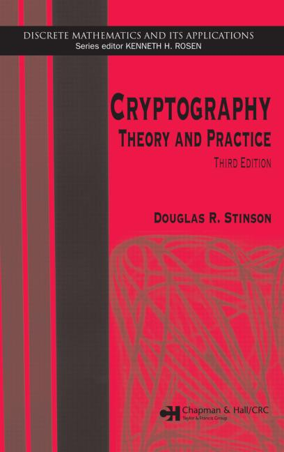 Cryptography Theory and Practice, Third Edition book cover