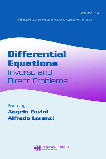 Differential Equations Inverse and Direct Problems book cover