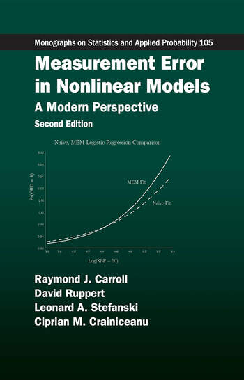 Measurement Error in Nonlinear Models A Modern Perspective, Second Edition book cover