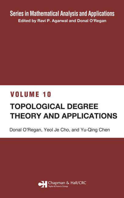 Topological Degree Theory and Applications book cover