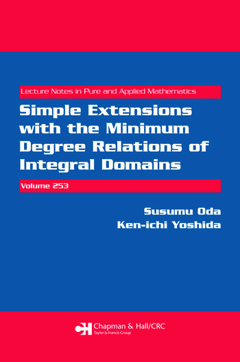 Simple Extensions with the Minimum Degree Relations of Integral Domains book cover