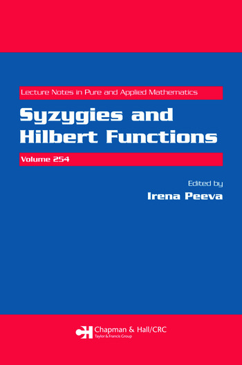 Syzygies and Hilbert Functions book cover
