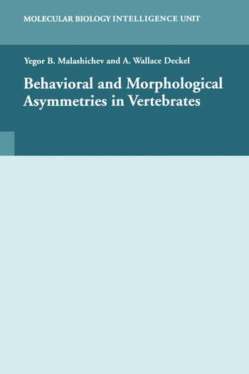 Behavioural and Morphological Asymmetries in Vertebrates book cover