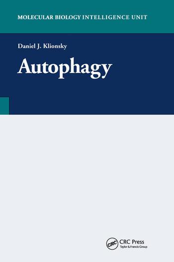 Autophagy book cover