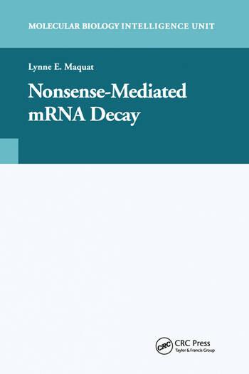 Nonsense-Mediated mRNA Decay book cover