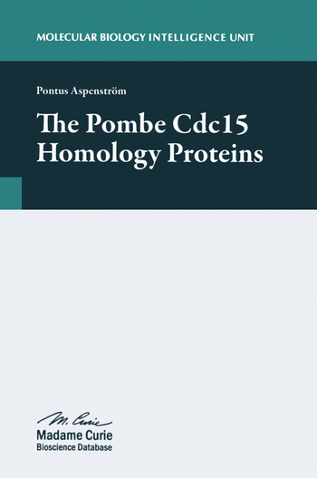 The Pombe Cdc15 Homology Proteins book cover