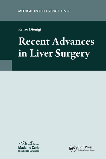 Recent Advances in Liver Surgery book cover