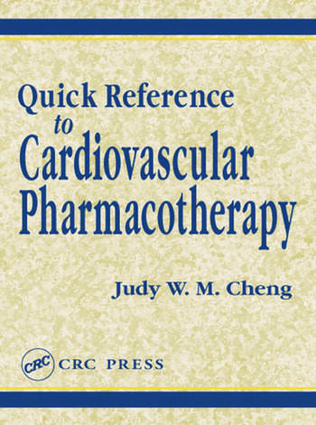 Quick Reference to Cardiovascular Pharmacotherapy book cover