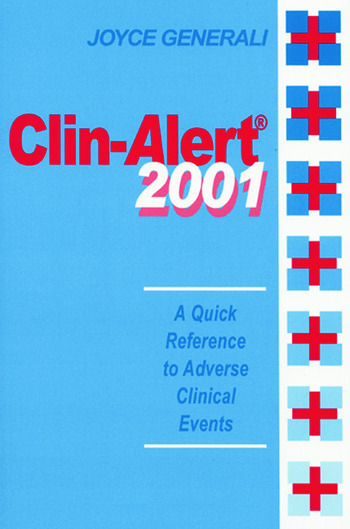 Clin-Alert 2001 A Quick Reference to Adverse Clinical Events book cover