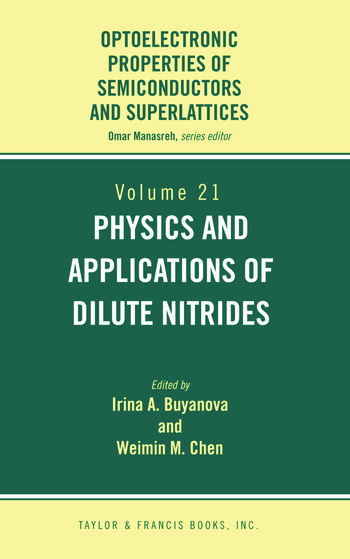 Physics and Applications of Dilute Nitrides book cover