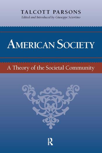 American Society Toward a Theory of Societal Community book cover