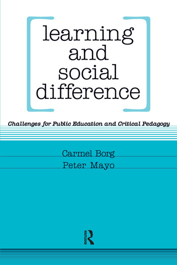 Learning and Social Difference book cover