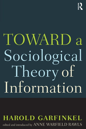 Toward A Sociological Theory of Information book cover