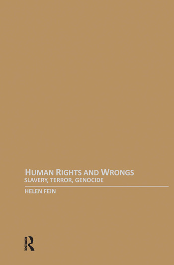 Human Rights and Wrongs Slavery, Terror, Genocide book cover
