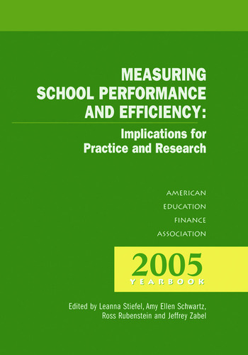 Measuring School Performance & Efficiency book cover