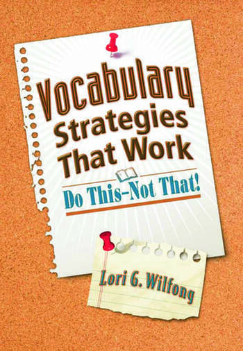 Vocabulary Strategies That Work Do This—Not That! book cover