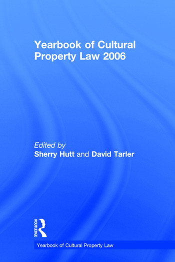 Yearbook of Cultural Property Law 2006 book cover