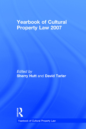 Yearbook of Cultural Property Law 2007 book cover