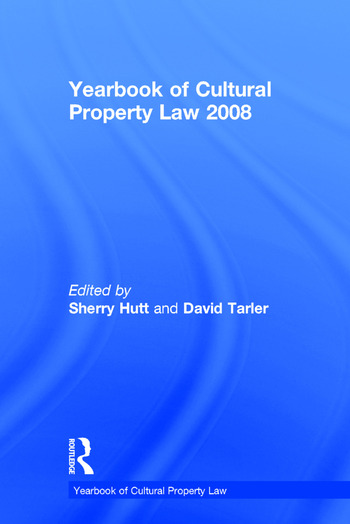 Yearbook of Cultural Property Law 2008 book cover