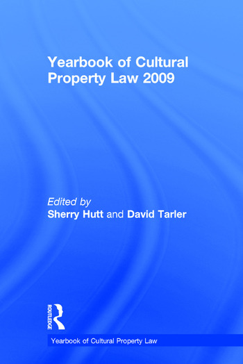 Yearbook of Cultural Property Law 2009 book cover