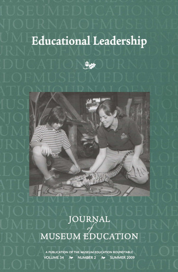 Educational Leadership Journal of Museum Education 34:2 Thematic Issue book cover