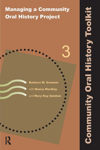 Managing a Community Oral History Project book cover